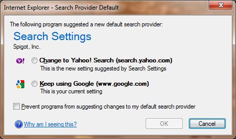 Spigot Widgi Toolbar Malware